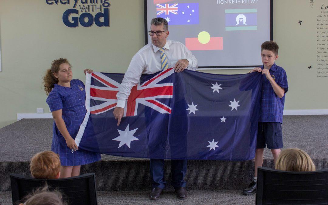 New school flags